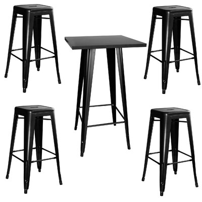 Buffalo Tools AmeriHome Loft 5 Piece Pub Table Set