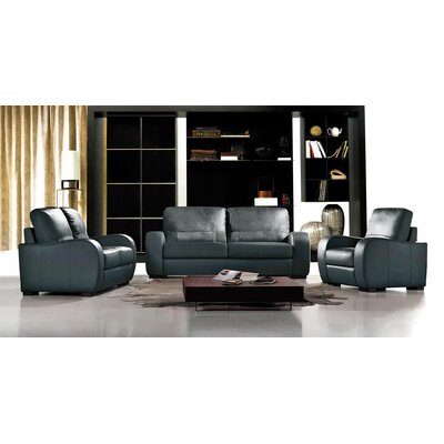 Hokku Designs Savana Bergamo Leather Living Room..