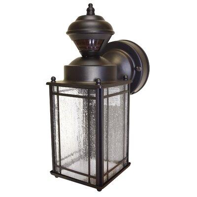 Heath-Zenith Motion Activated 1 Light Outdoor Wall Lantern & Reviews Wayfair