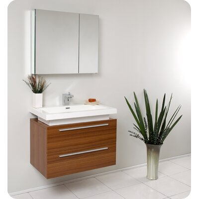 Fresca Senza 31 Single Medio Modern Bathroom Vanity Set With Mirror Reviews Wayfair Supply