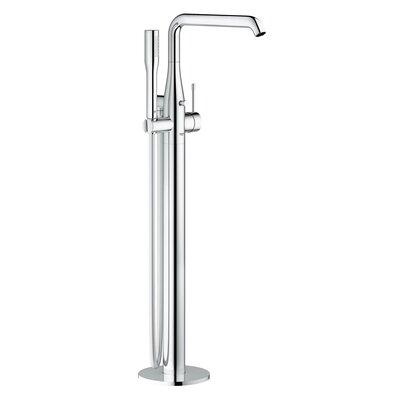 grohe essence single handle floor mounted tub filler trim with shower wayfair. Black Bedroom Furniture Sets. Home Design Ideas