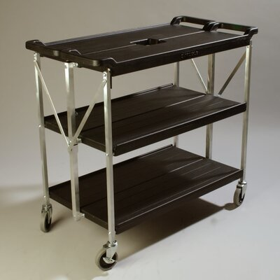 Carlisle Sanitary Maintenance Products Fold 'N Go® Serving Cart