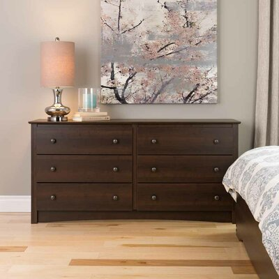 Latitude Run Penelope 6 Drawer Double Dresser