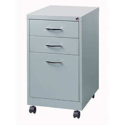 Hirsh Industries Soho 3 Drawer Mobile Pedestal File