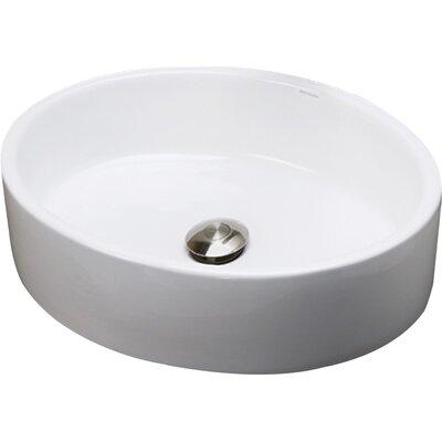 Bathroom Sinks Oval decolav classically redefined oval vessel bathroom sink & reviews