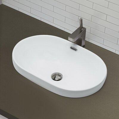decolav classically redefined semi recessed oval bathroom sink, Bathroom decor