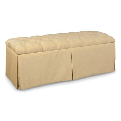 Fairfield Chair Tufted Top Skirted Storage Ottoman