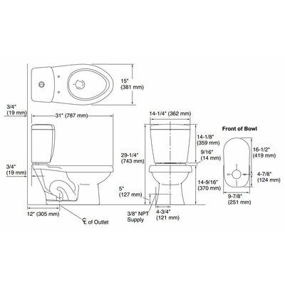 Sterling By Kohler Karsten Dual Flush Elongated 2 Piece Toilet Wayfair