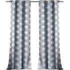 Hayley Damask Print Grommet Single Curtain Panel Amp Reviews