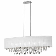 Crystalline 6 Light Rectangular Chandelier