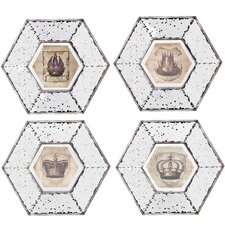 4 Piece Picture Framed Mirrored Wall Art Set (Set of 4)