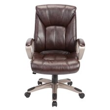 mid back executive chair brown leather office chair