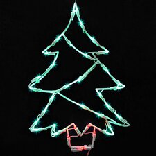 Outdoor christmas light displays you 39 ll love wayfair for 16 lighted snowflake christmas window silhouette decoration