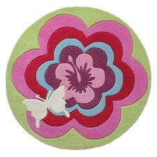 Handgetufteter Teppich Fantasy Flower in Bunt