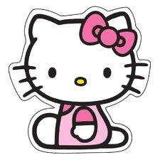Motivteppich Hello Kitty in Weiß