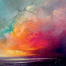Scott Naismith - Sunset Cumulus Study 1 Canvas Wall Art