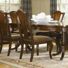 American Traditions Splat Back Side Chair in Distressed Rich Cordovan Mahogany (Set of 2) byLegacy Classic Furniture