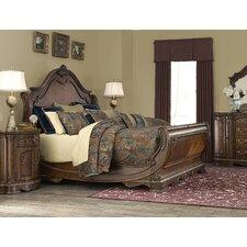 bella veneto sleigh customizable bedroom set bedroom set light wood vera
