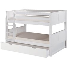 Camaflexi Low Twin Bunk Bed with Trundle