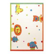 Handgewebter Teppich in Creme