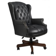 norden high back executive chair brown leather office chair