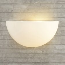 Daugherty One Light Wall Sconce with Opal Glass Shade in Matte White