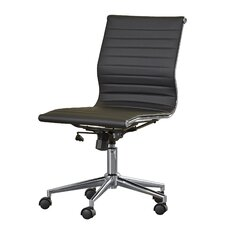 willowridge mid back leather desk chair armless office chair wheels