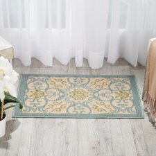 Caribbean Ivory/Blue Indoor/Outdoor Area Rug