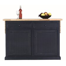 Butcher Block Breakfast Bar Kitchen : Kitchen Islands & Carts You'll Love Wayfair
