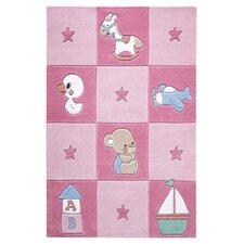 Handgetufteter Teppich Smart Kids in Rosa