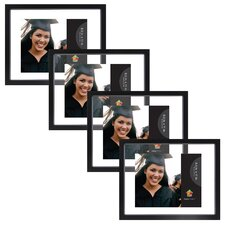 Gallery Float Glass Wood Picture Frame (Set of 4)