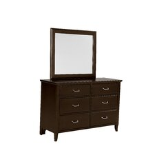 Commentary 6 Drawer Dresser with Mirror by Virginia House