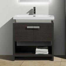 Modern bathroom vanities you 39 ll love wayfair for Levi 29 5 single modern bathroom vanity set