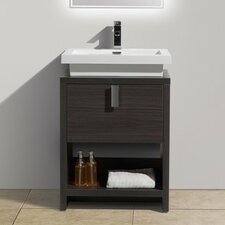 Modern bathroom vanities cabinets allmodern for Levi 29 5 single modern bathroom vanity set