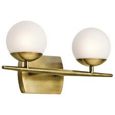 jasper 2 light vanity light brass lighting fixtures