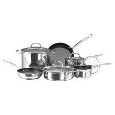 stainless steel cookware sets you 39 ll love wayfair. Black Bedroom Furniture Sets. Home Design Ideas