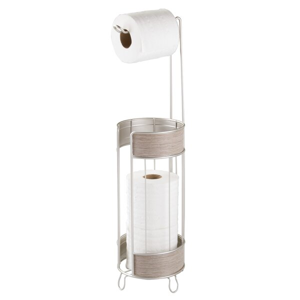 Real wood free standing toilet paper holder joss main Toilet paper holder free standing
