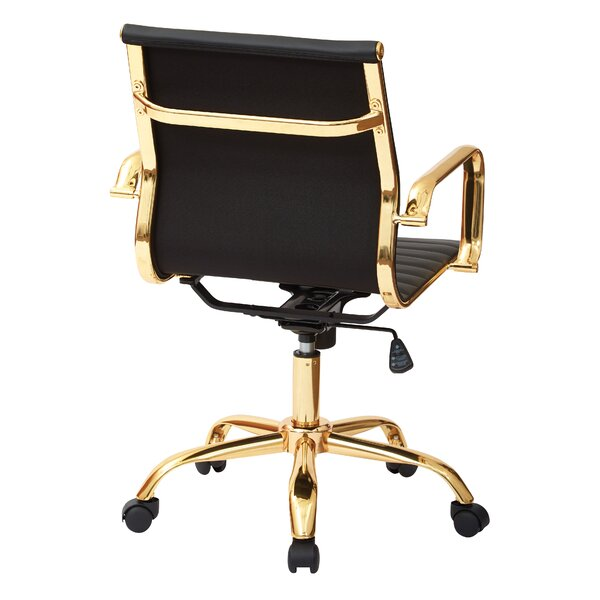 Angelina fice Chair in Gold & Reviews