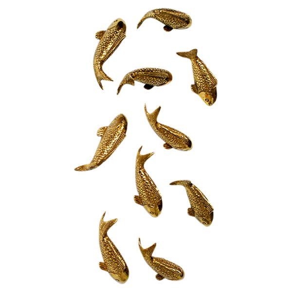 Koi Wall Décor In Gold Leaf : Koi wall decor in gold leaf reviews joss main