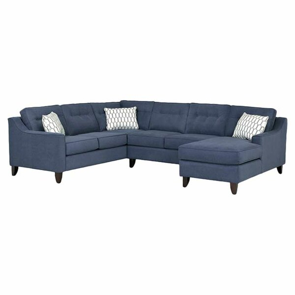 Quentin 120quot sectional sofa reviews joss main for Sectional sofa 120