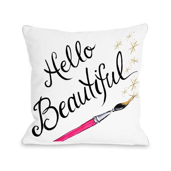 Hello Beautiful Sparkles Throw Pillow & Reviews Joss & Main