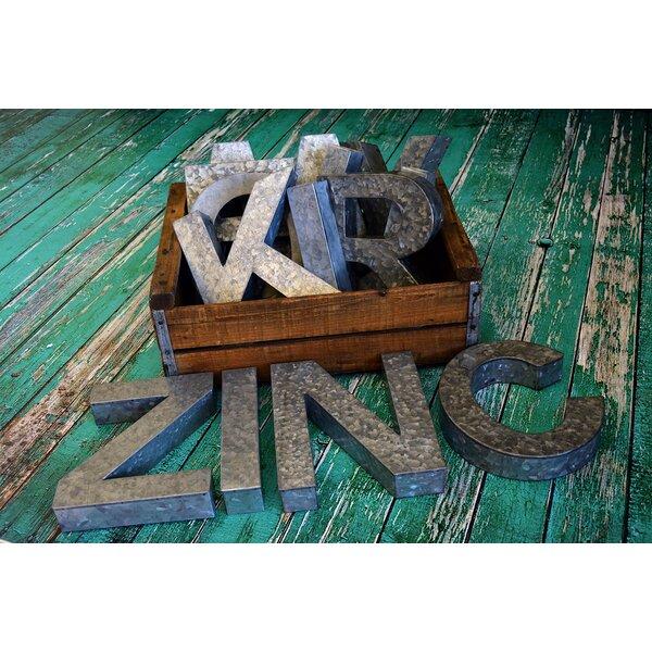 Zinc letter decor joss main for Decoration zinc