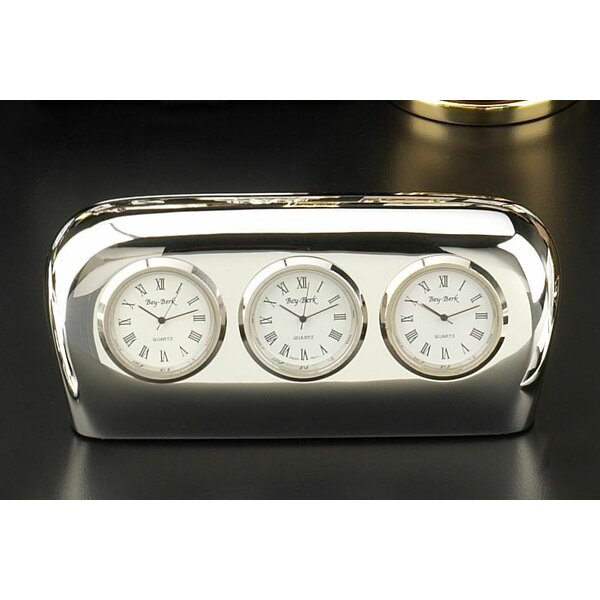 Salzburg Triple Time Zone Table Clock Amp Reviews Joss Amp Main