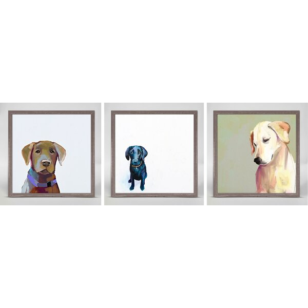 Best friends by cathy walters 3 piece framed painting for Best brand of paint for kitchen cabinets with set of 4 canvas wall art