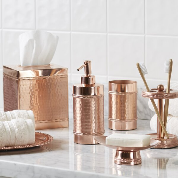 Hammered Copper Bathroom Accessory Tray Reviews Joss Main