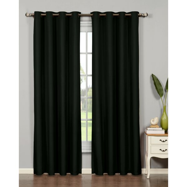 Elliot Extra Wide Thermal Grommet Curtain Panel Pair Reviews Joss Main