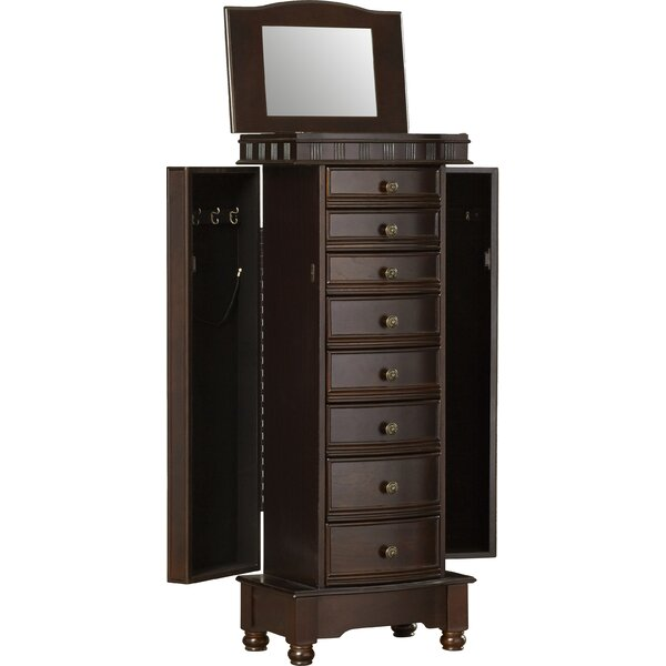 three posts o brien jewelry armoire with mirror reviews. Black Bedroom Furniture Sets. Home Design Ideas