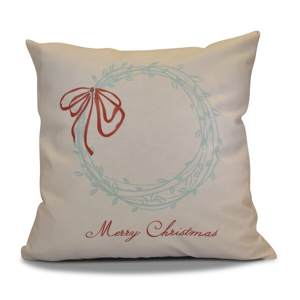 Decorative Throw Pillows With Words : Decorative Holiday Word Print Outdoor Throw Pillow Joss & Main