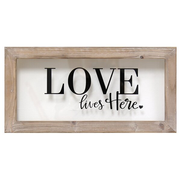 Framed Love Wall Decor : Love lives here framed wall decor reviews joss main