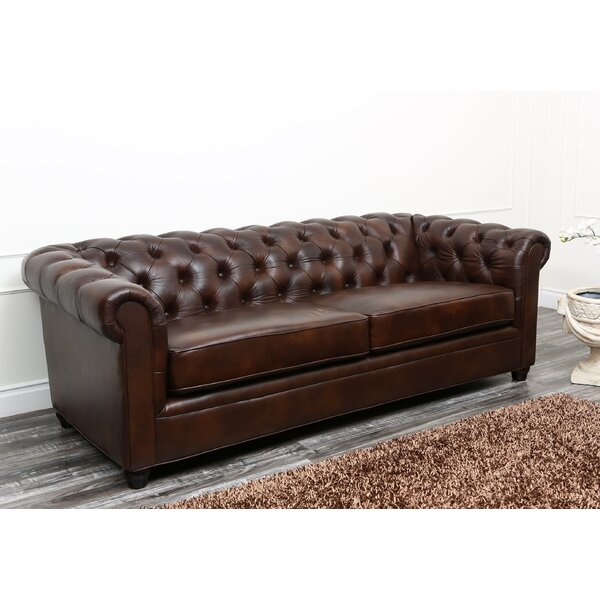 Riley 86 Leather Chesterfield Sofa Reviews Joss Main